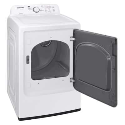 7.2 cu. ft. 120-Volt White Gas Dryer with Sensor Dry