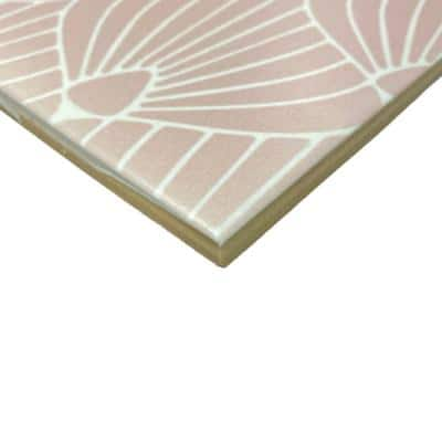Epoque Shell Pink/White 8 in. x 8 in. Matte Ceramic Floor and Wall Tile (12.7 sq. ft./Case)