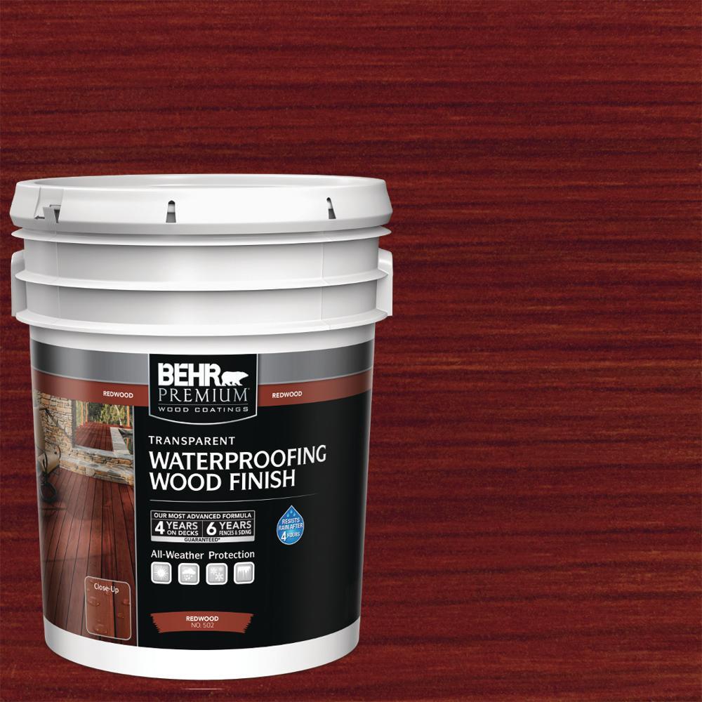 5 Gal. #T-330 Redwood Transparent Waterproofing Exterior Wood Finish