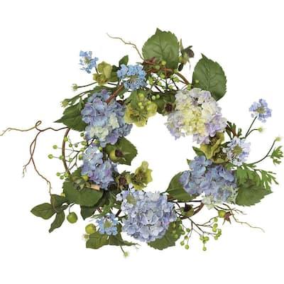 20 in. Hydrangea Wreath