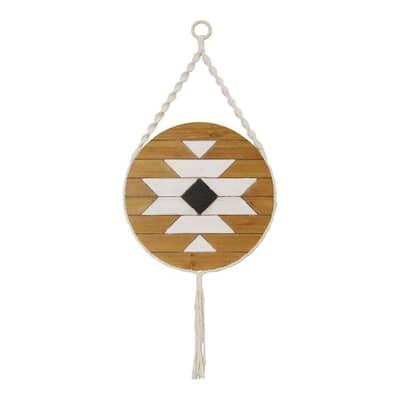 Victoria Boho Style Hanging Mayan Design Wood Wall Art