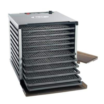 Mighty Bite 10-Tray Black Food Dehydrator with Temperature Control