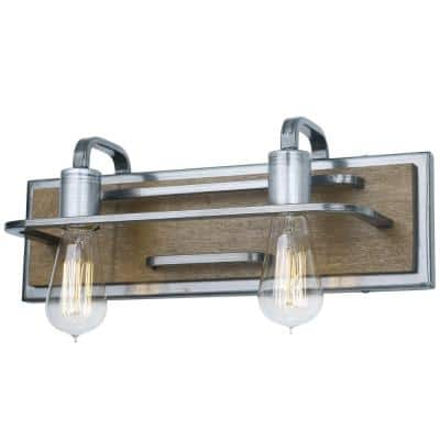 Stainless Steel Vanity Lighting Lighting The Home Depot