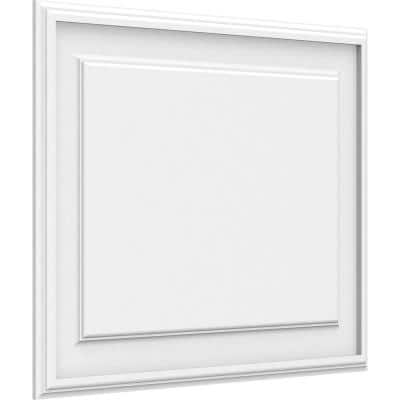 5/8 in. x 2 ft. x 1-1/2 ft. Legacy Raised Panel White PVC Decorative Wall Panel