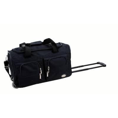 Voyage 22 in. Rolling Duffle Bag, Black