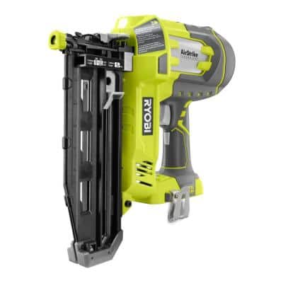 ONE+ 18V Cordless AirStrike 16-Gauge 2-1/2 in. Straight Finish Nailer (Tool Only) with Sample Nails
