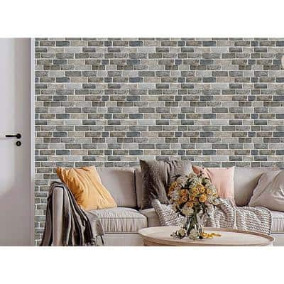 3D PVC Peel and Stick Mosaic Tile Peelable Sticker 12 in. x 24 in. / Piece (Set of 40-Piece)