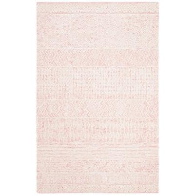 Glamour Light Pink/Ivory 4 ft. x 6 ft. Geometric Area Rug
