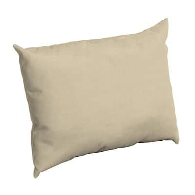 Taupe Leala Texture Rectangle Outdoor Throw Pillow