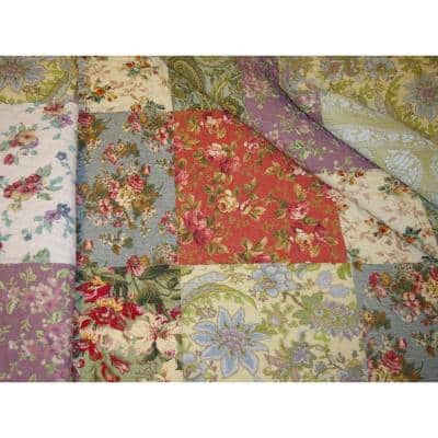 Blooming Prairie Multi Quilted Cotton Throw