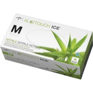 Aloetouch Ice Off White Powder Free Nitrile Gloves (100-Pairs)