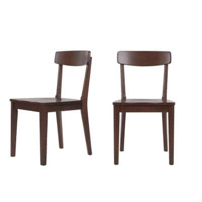 Saskia Sable Brown Finish Wood Dining Chair (Set of 2) (18 in. W x 32 in. H)