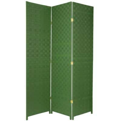 6 ft. Green 3-Panel Room Divider
