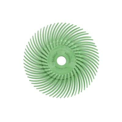 Sunburst 3 in. Radial Discs 3/8 in. 1 mic Ultra-Fine Arbor Thermoplastic Cleaning and Polishing Tool (12-Pack)