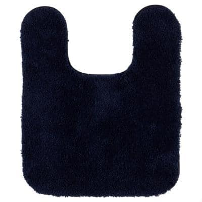 Pure Perfection Navy 20 in. x 24 in. Nylon Machine Washable Bath Mat