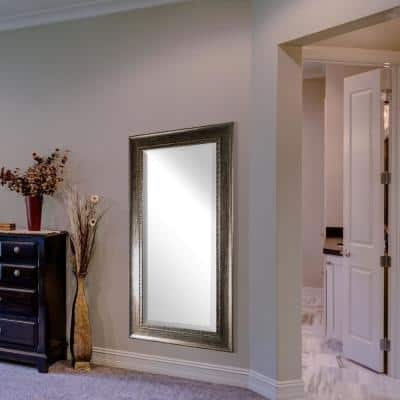 Large Rectangle Brown Modern Mirror (47 in. H x 25 in. W)