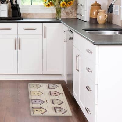 Bird House 20 in. x 32 in. Anti-Fatigue Gelness Kitchen Mat
