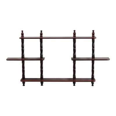 3.54 in. D x 27 in. W Wall Mounted Decorative Shelf in Cherry