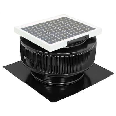 740 CFM Black Powder Coated 10-Watt Solar Powered 12 in. Dia. Roof Mounted Attic Exhaust Fan