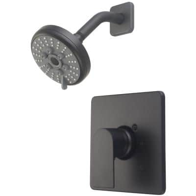 i4 1-Handle Wall Mount Shower Faucet Trim Kit in Matte Black with 3 Function Showerhead (Valve not Included)