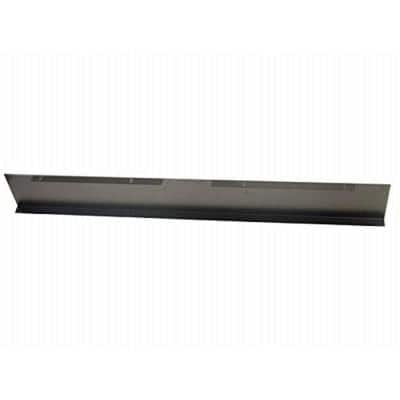 4 in. Decorative Plate for 30 in. Side Draft Range Hoods Black Color