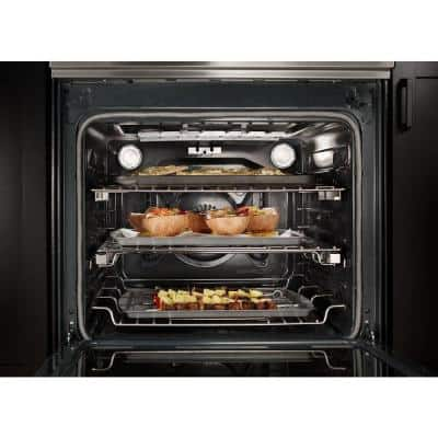 7.1 cu. ft. Slide-In Induction Range with Self-Cleaning Convection Oven in Stainless Steel