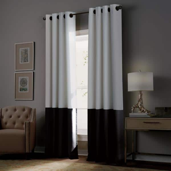 Curtainworks Kendall 50 In W X 108 In L Blackout Window Panel In White 1q806608wt The Home Depot