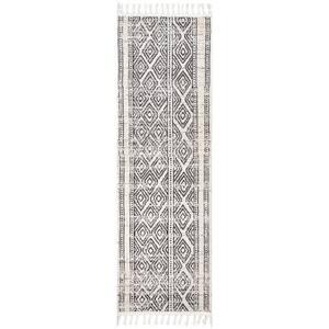 Chenoa Striped Tribal Tassel Ivory 3 ft. x 10 ft. Runner