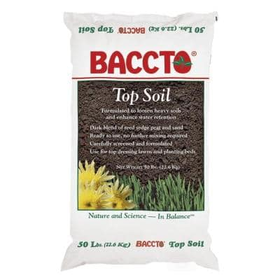 50 lbs. Baccto Top Soil with Reed Sedge, Peat and Sand