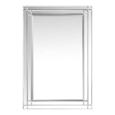 Medium Rectangle Beveled Glass Classic Mirror (36 in. H x 24 in. W)