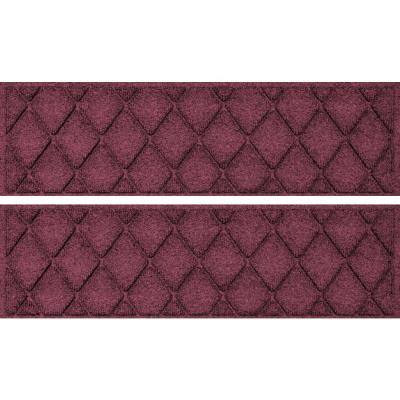 Argyle 8.5 in. x 30 in Stair Treads (Set of 4) Bordeaux