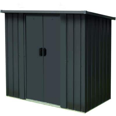 4.4 ft. x 2.8 ft. x 4.8 ft. Compact Storage Shed with Double Sliding Doors