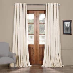 Off White Grommet Blackout Curtain - 100 in. W x 120 in. L