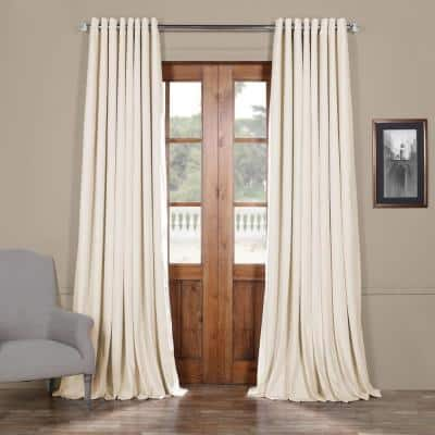 Off White Grommet Blackout Curtain - 100 in. W x 96 in. L