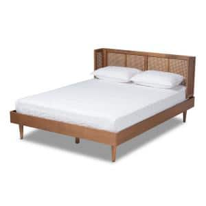 Rina Ash walnut King Platform Bed