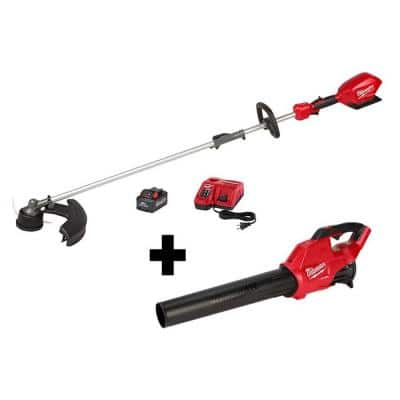 M18 FUEL 18-Volt Lithium-Ion Brushless Cordless String Trimmer Kit w/ QUIK-LOK Attachment Capability & M18 FUEL Blower