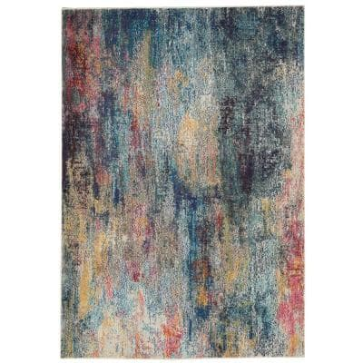 Celestial Multicolor 4 ft. x 6 ft. Abstract Bohemian Area Rug