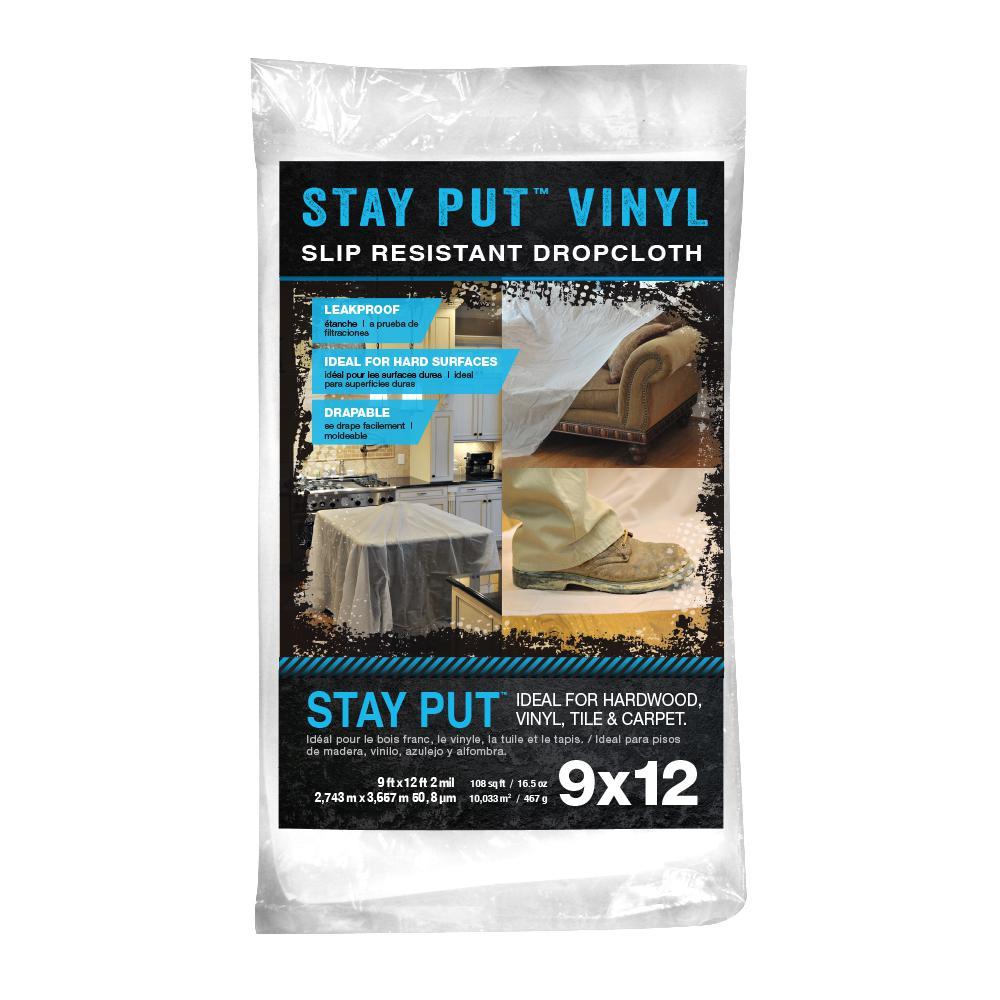 9 ft. x 12 ft. 2 mil Stay Put Vinyl Drop Cloth