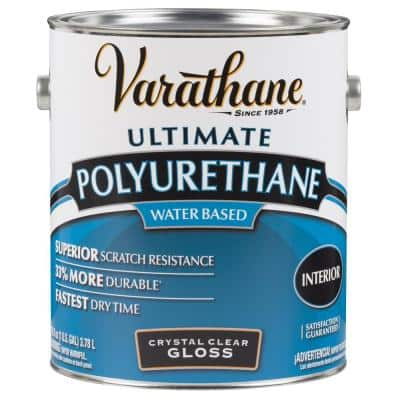 1 gal. Clear Gloss Water-Based Interior Polyurethane (2-Pack)
