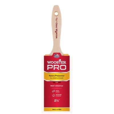 2-1/2 in. Pro Nylon/Polyester Flat Brush