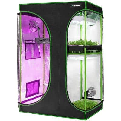 5 ft. L x 4 ft. L 2 in 1 Mylar Reflective Grow Tent for Indoor Growing System