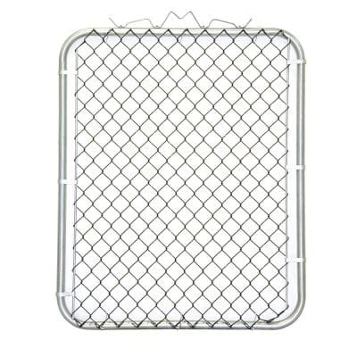 42 in. W x 48 in. H Black PVC Coated Steel Bent Frame Walk-Through Chain Link Fence Gate