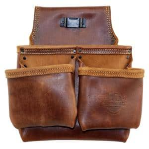 5-Pocket Framers Professional Tool Pouch with Ambassador Series Top Grain Leather