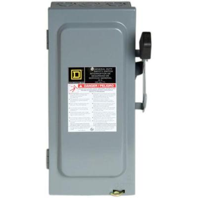 60 Amp 240-Volt 3-Pole 3-Phase Fused Indoor General Duty Safety Switch