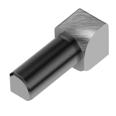 Rondec Brushed Chrome Anodized Aluminum 1/4 in. x 1 in. Metal 90 Degree Inside Corner
