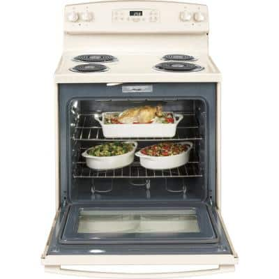 30 in. 5.3 cu. ft. Electric Range with Self-Cleaning Oven in Bisque