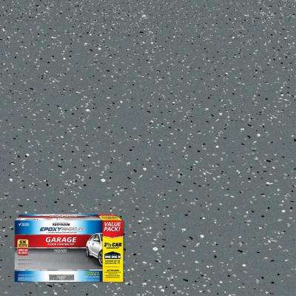 240 oz. Dark Gray Gloss 2.5-Car Garage Floor Kit