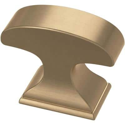 Classic Edge 1-3/8 in. (35 mm) Champagne Bronze Cabinet Knob