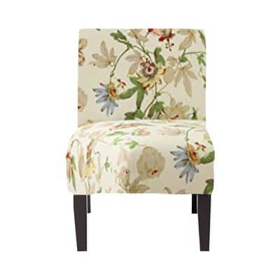 Amelia Floral Pattern Upholstered Accent Chair