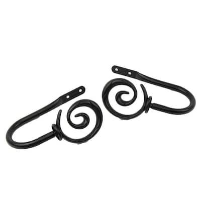 Spiral Decorative Holdback Pair in Black